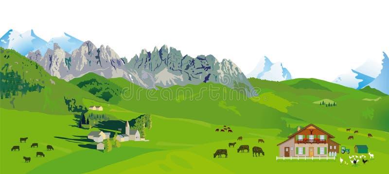 πανόραμα βουνών απεικόνιση αποθεμάτων