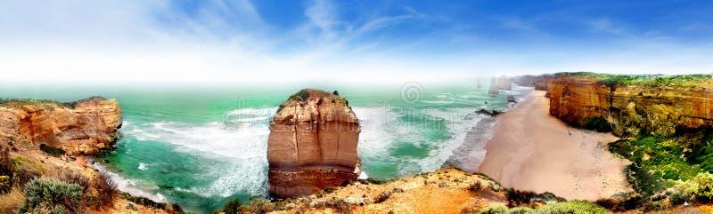 Πανόραμα δώδεκα αποστόλων, Αυστραλία στοκ εικόνα