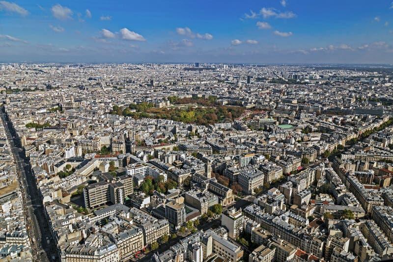 Πανόραμα και εναέρια άποψη του Παρισιού, από τον πύργο Montparnasse στοκ εικόνες