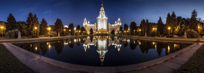 Πανόραμα κρατικού πανεπιστημίου της Μόσχας στοκ εικόνες