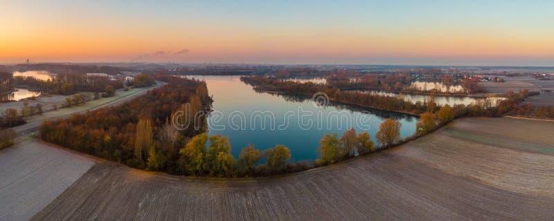 Πανόραμα λιμνών λατομείων στοκ φωτογραφίες με δικαίωμα ελεύθερης χρήσης
