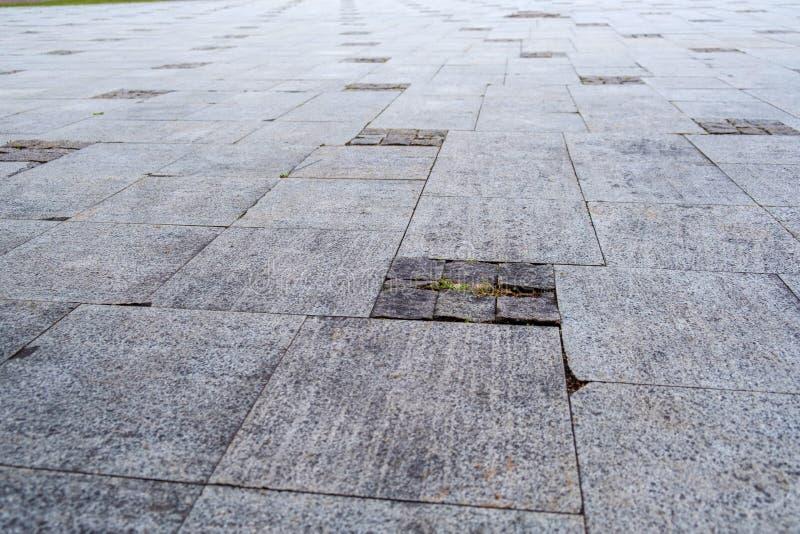 Πανόραμα μιας κεραμωμένης τετραγωνικής, γραμμικής προοπτικής στοκ φωτογραφία