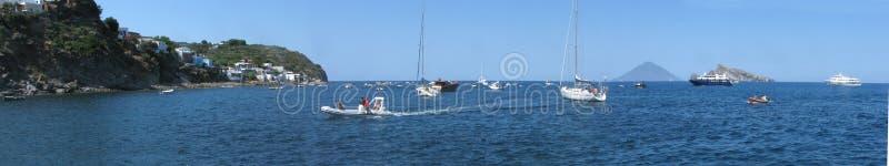 Πανόραμα & x28 νησιών Panarea harbor& x29  - Μεσσήνη - Σικελία - Ιταλία στοκ φωτογραφία με δικαίωμα ελεύθερης χρήσης