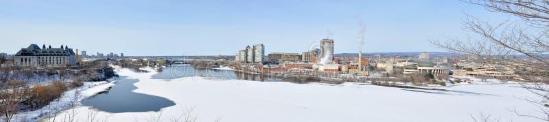 Πανόραμα οριζόντων Gatineau το χειμώνα, Οττάβα, Καναδάς στοκ φωτογραφία με δικαίωμα ελεύθερης χρήσης