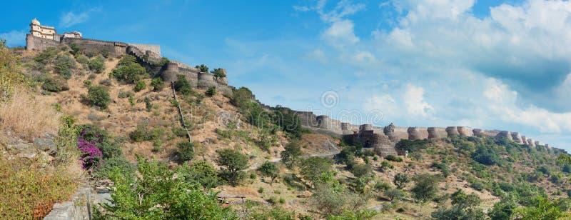 Πανόραμα οχυρών Kumbhalgarh Rajasthan, Ινδία στοκ φωτογραφία με δικαίωμα ελεύθερης χρήσης