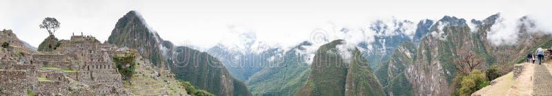 Πανόραμα παγκόσμια κληρονομιά της ΟΥΝΕΣΚΟ του Περού, Νότια Αμερική Picchu Machu στοκ εικόνες