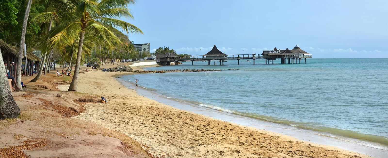 Πανόραμα παραλιών Noumea, Νέα Καληδονία στοκ φωτογραφίες