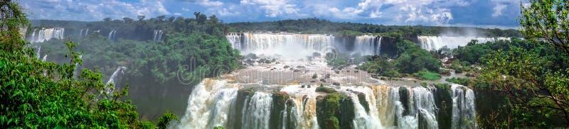 Πανόραμα πτώσεων Iguazu στοκ φωτογραφία με δικαίωμα ελεύθερης χρήσης