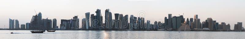 Πανόραμα πύργων Doha το 2018 στοκ φωτογραφία με δικαίωμα ελεύθερης χρήσης