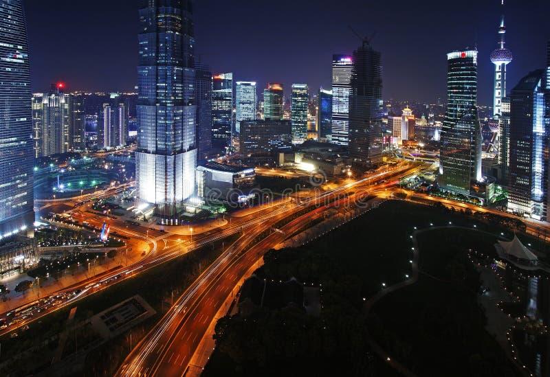 πανόραμα Σαγγάη της Κίνας στοκ φωτογραφία με δικαίωμα ελεύθερης χρήσης