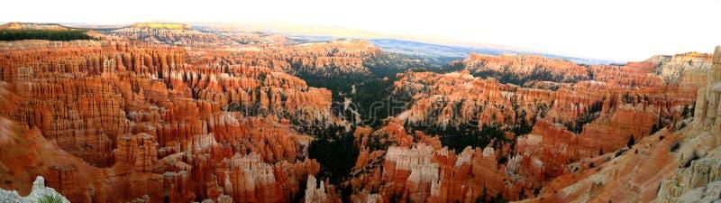 Πανόραμα σημείου έμπνευσης φαραγγιών του Bryce στοκ φωτογραφία με δικαίωμα ελεύθερης χρήσης