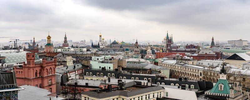 Πανόραμα στο κέντρο της Μόσχας από το κεντρικό παιδικό κατάστημα παιχνιδιών στοκ φωτογραφία με δικαίωμα ελεύθερης χρήσης