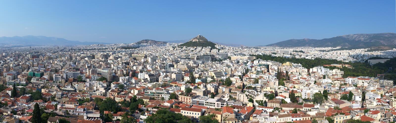 πανόραμα της Αθήνας στοκ εικόνα