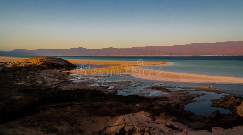 Πανόραμα της αλμυρή λίμνης Κρατήρα Ασάλ Τζιμπουτί στοκ εικόνα με δικαίωμα ελεύθερης χρήσης