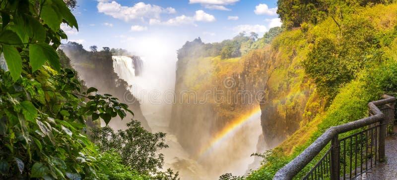 Πανόραμα της Αφρικής Victoria Falls στοκ εικόνες