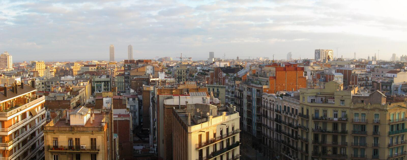 πανόραμα της Βαρκελώνης στοκ εικόνες με δικαίωμα ελεύθερης χρήσης