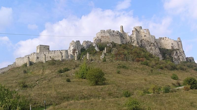 Πανόραμα της κάστρο-Σλοβακίας Spissky στοκ εικόνες