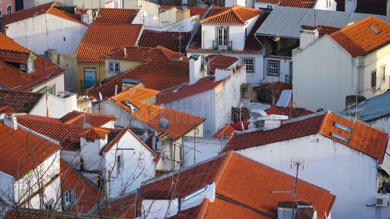 Πανόραμα της Λισσαβώνας εναέρια όψη Η Λισσαβώνα είναι η πρωτεύουσα και η μεγαλύτερη πόλη της Πορτογαλίας Η Λισσαβώνα είναι ηπειρω στοκ εικόνες
