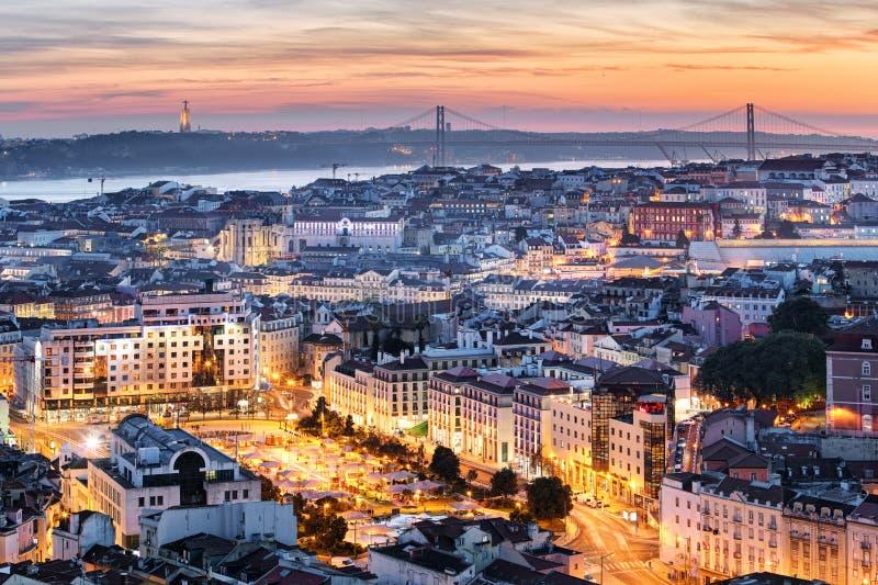 Πανόραμα της Λισσαβώνας, Πορτογαλία στοκ εικόνες