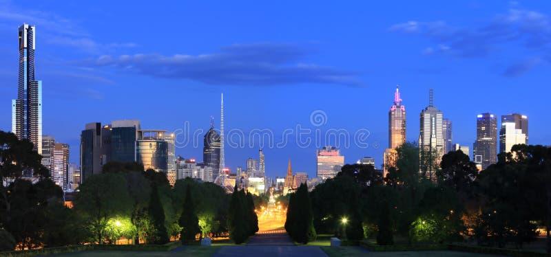 πανόραμα της Μελβούρνης στοκ φωτογραφία