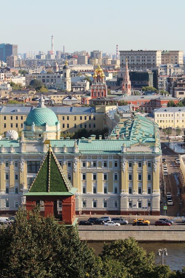 Πανόραμα της Μόσχας από το μεγάλο κουδούνι πύργων του Ivan, Μόσχα στοκ εικόνα