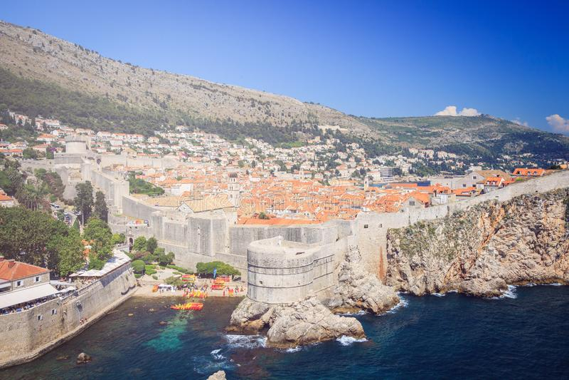 Πανόραμα της παλαιάς πόλης Dubrovnik στοκ φωτογραφία