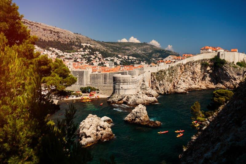 Πανόραμα της παλαιάς πόλης Dubrovnik στοκ φωτογραφίες με δικαίωμα ελεύθερης χρήσης