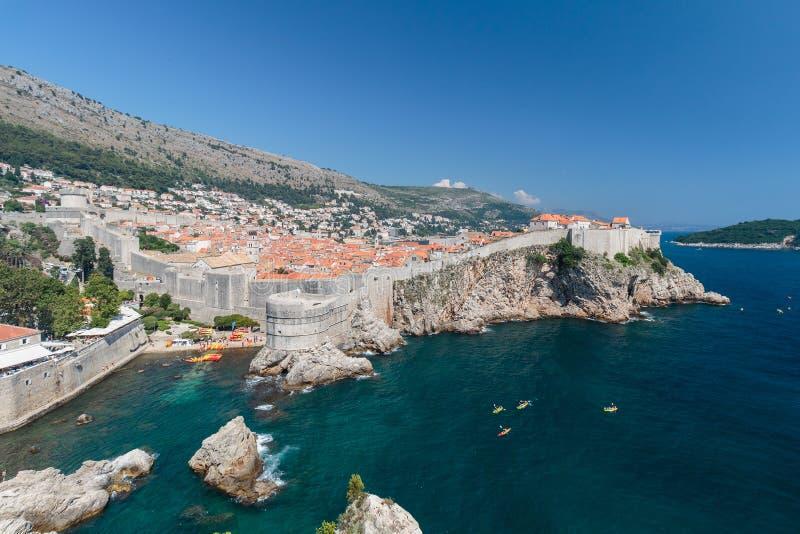 Πανόραμα της παλαιάς πόλης Dubrovnik στοκ εικόνες με δικαίωμα ελεύθερης χρήσης