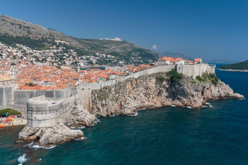 Πανόραμα της παλαιάς πόλης Dubrovnik στοκ εικόνες