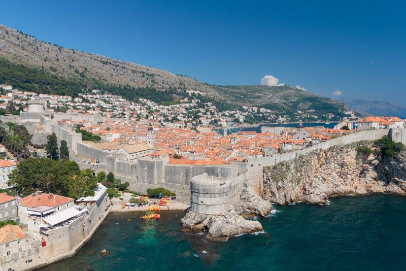 Πανόραμα της παλαιάς πόλης Dubrovnik στοκ φωτογραφία με δικαίωμα ελεύθερης χρήσης