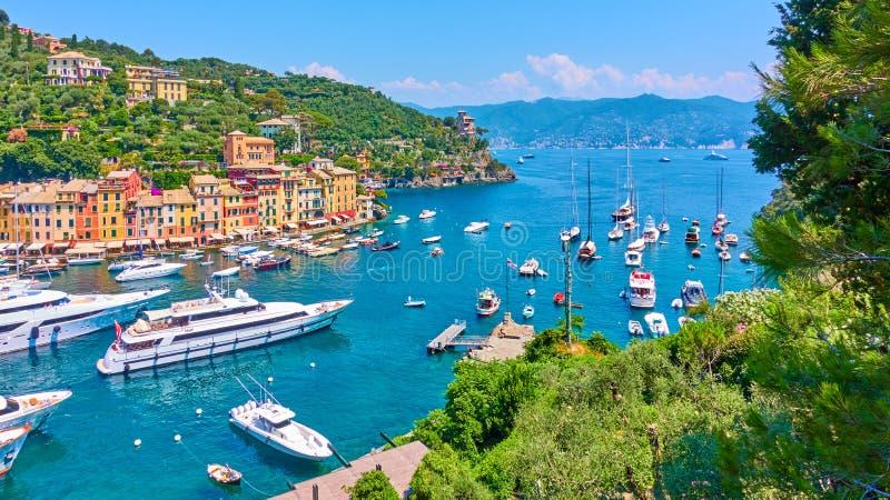 Πανόραμα της πόλης Portofino στοκ εικόνες με δικαίωμα ελεύθερης χρήσης