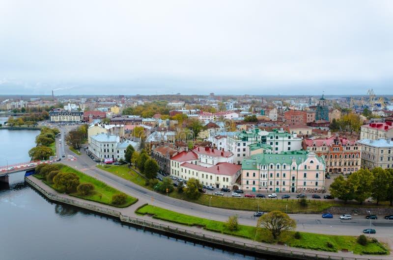 Πανόραμα της πόλης Vyborg στοκ εικόνα με δικαίωμα ελεύθερης χρήσης