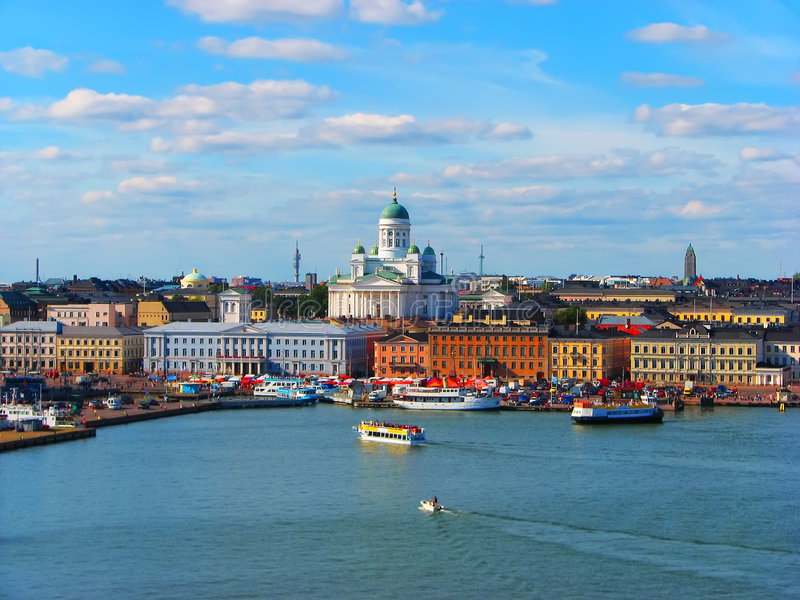 πανόραμα της Φινλανδίας Ε&lam στοκ φωτογραφία