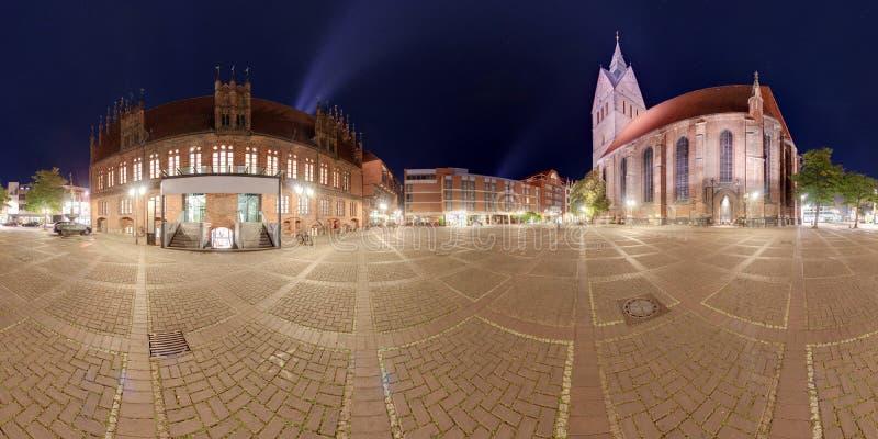 Πανόραμα του Αννόβερου Marktplatz στοκ φωτογραφία με δικαίωμα ελεύθερης χρήσης