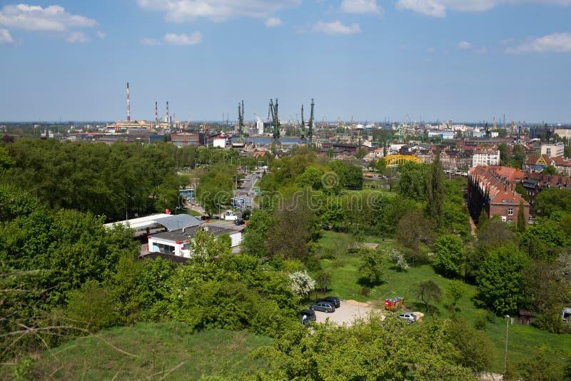 Πανόραμα του Γντανσκ. στοκ φωτογραφία