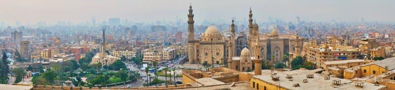 Πανόραμα του Καίρου από την ακρόπολη, Αίγυπτος στοκ εικόνες με δικαίωμα ελεύθερης χρήσης
