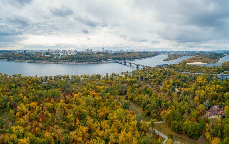 Πανόραμα του Κιέβου στοκ φωτογραφίες με δικαίωμα ελεύθερης χρήσης