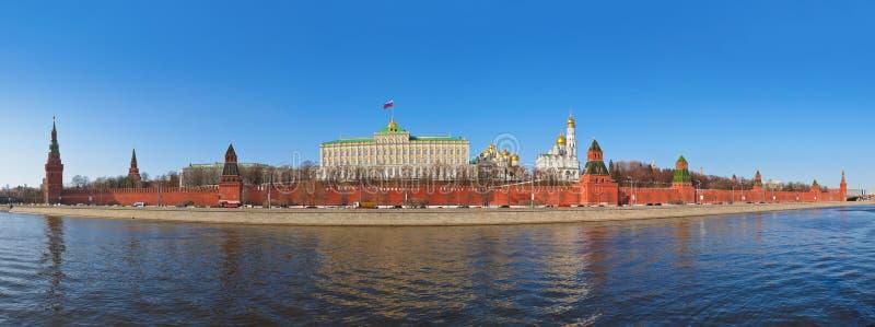 Πανόραμα του Κρεμλίνου στη Μόσχα (Ρωσία) στοκ εικόνα με δικαίωμα ελεύθερης χρήσης