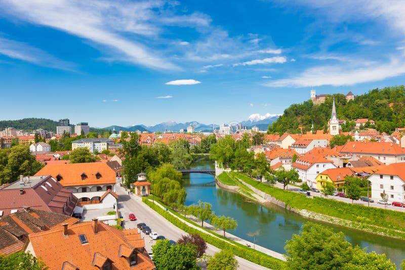 Πανόραμα του Λουμπλιάνα, Σλοβενία, Ευρώπη στοκ φωτογραφία