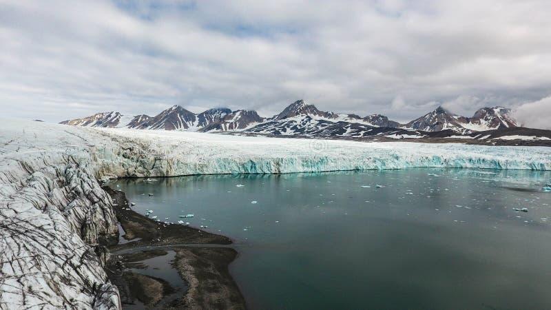 Πανόραμα του μετώπου Hans παγετώνων ` s στοκ εικόνες