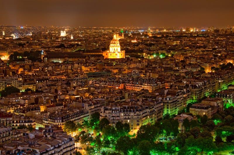 Πανόραμα του Παρισιού τη νύχτα στοκ φωτογραφίες με δικαίωμα ελεύθερης χρήσης