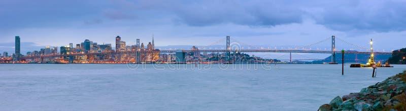 Πανόραμα του Σαν Φρανσίσκο στοκ εικόνες με δικαίωμα ελεύθερης χρήσης
