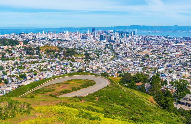 Πανόραμα του Σαν Φρανσίσκο στοκ φωτογραφία με δικαίωμα ελεύθερης χρήσης