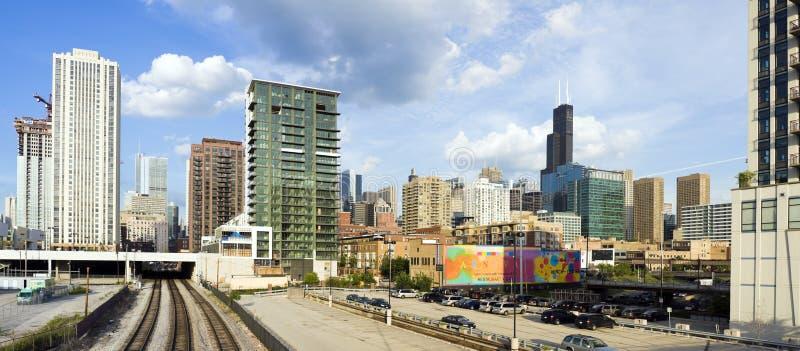 πανόραμα του Σικάγου στοκ εικόνα