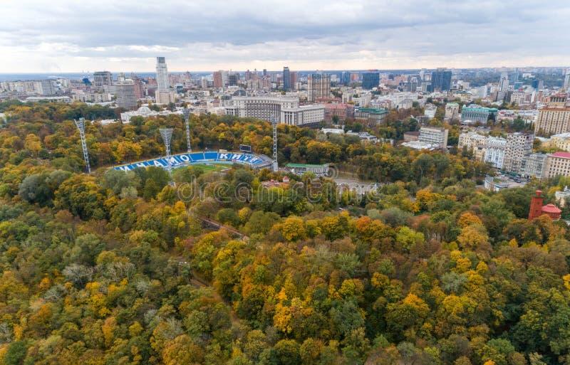 Πανόραμα του φθινοπώρου Κιέβου στοκ φωτογραφίες με δικαίωμα ελεύθερης χρήσης