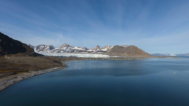 Πανόραμα του φιορδ Hornsund στοκ φωτογραφία