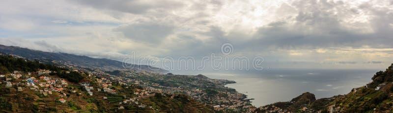Πανόραμα του Φουνκάλ στο νησί της Μαδέρας, Πορτογαλία στοκ εικόνα με δικαίωμα ελεύθερης χρήσης