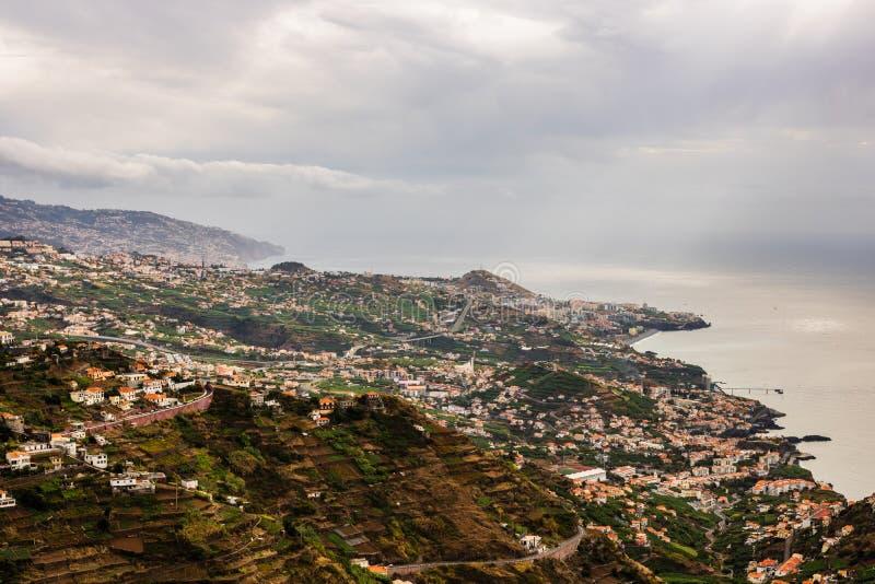 Πανόραμα του Φουνκάλ στο νησί της Μαδέρας, Πορτογαλία στοκ φωτογραφίες