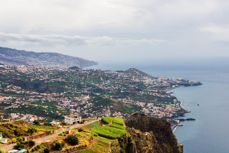 Πανόραμα του Φουνκάλ στο νησί της Μαδέρας, Πορτογαλία στοκ φωτογραφία με δικαίωμα ελεύθερης χρήσης