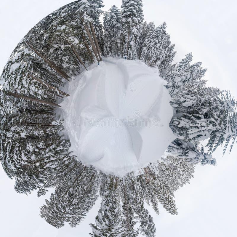πανόραμα 360 του χειμερινού τοπίου στις αυστριακές Άλπεις στοκ φωτογραφία με δικαίωμα ελεύθερης χρήσης